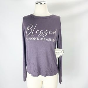 French Pastry NWT Blessed Beyond Measure M Blouse
